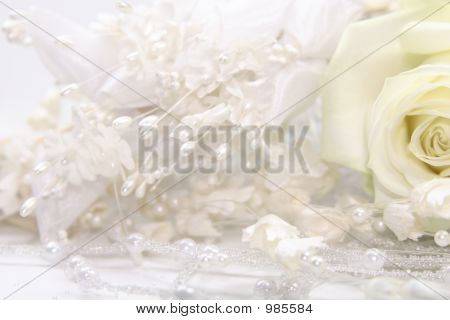 Wedding Gown Fabric With Rose