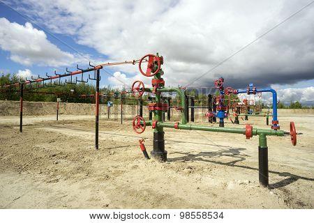 Bush wells  the oil field in Siberia.