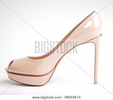 Woman Beige Shoe