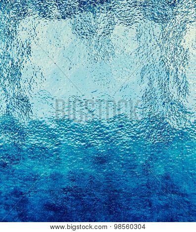 Blue color glass