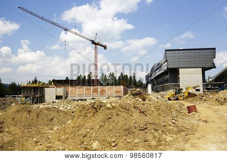 Construction Of A New Sports Hall In Zakopane