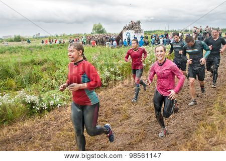 Cross-country race. Before next obstacle. Tyumen