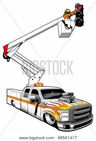 Hot rod boom truck