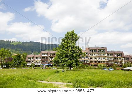 Housing Estate In Zakopane, Poland