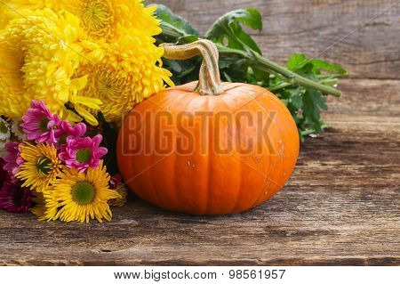 pumpkin on table