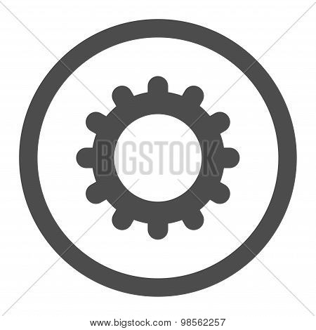 Gear flat gray color rounded raster icon