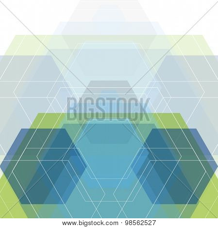 Abstract minimal geometric tech design. Vector background