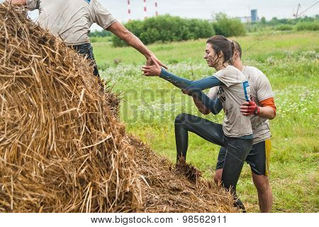 Cross-country race. Obstacle mow. Tyumen. Russia