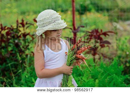 Girl  Pulls A Carrot