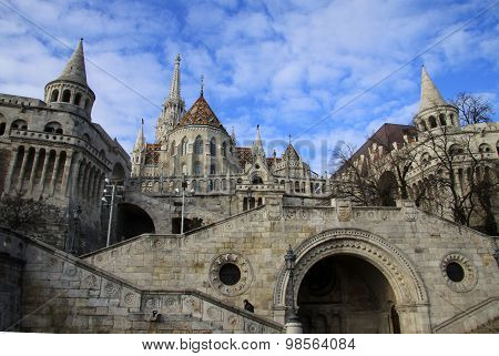 Fisherman's Bastion and Matthias Church in Budapest, Hungary