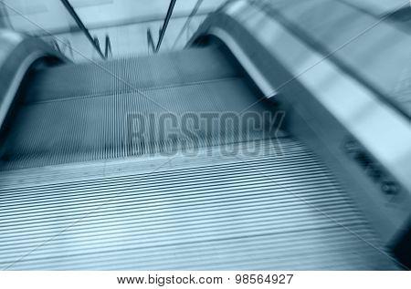 Empty Moving Escalator