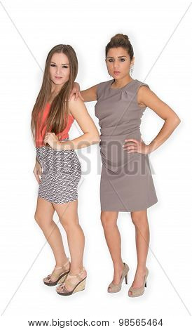 Two proud young women posing