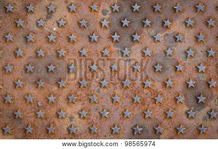 Star Textured Rusty Background