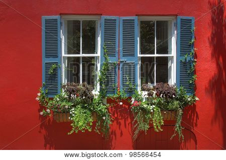 Home exteriors with shutters