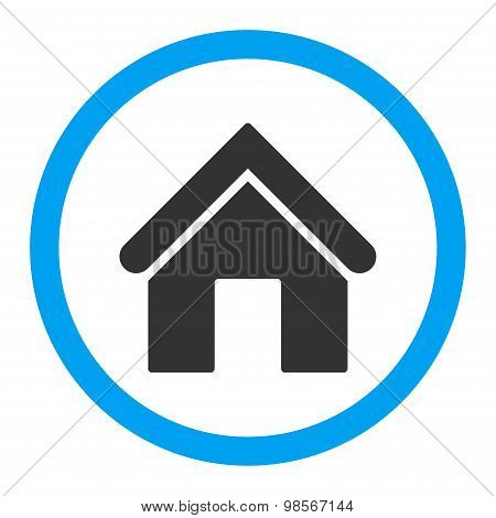Home flat blue and gray colors rounded vector icon