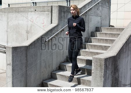 Running Down The Stairs