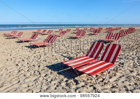 Beach Lounger In Holland