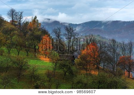Carpathians mountain in autumn time