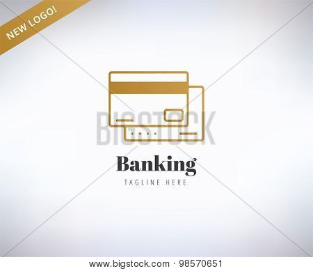 Bank finanse logo. Money, banking or broker and growth. Stock illustrations