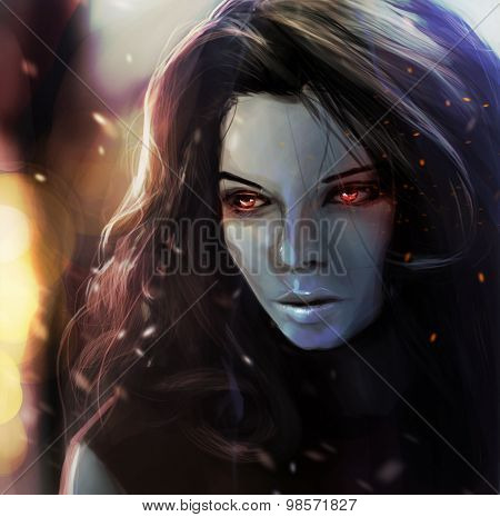 Fantasy girl portrait.