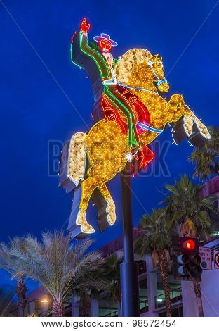 Las Vegas , The Hacienda Horse And Rider Sign