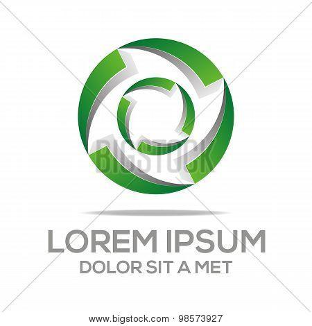 Logo Circle Spin Design Element Eco