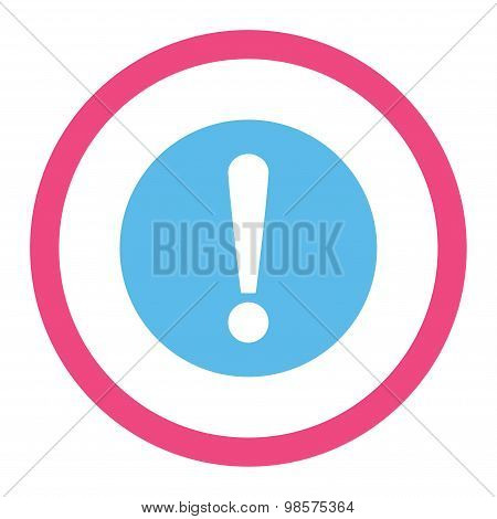 Problem flat pink and blue colors rounded vector icon