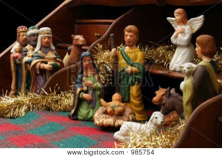 Nativity With Secretary - Side View