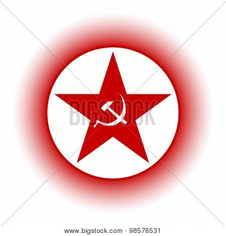 Communism Star Button.