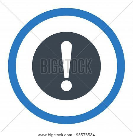 Problem flat smooth blue colors rounded vector icon