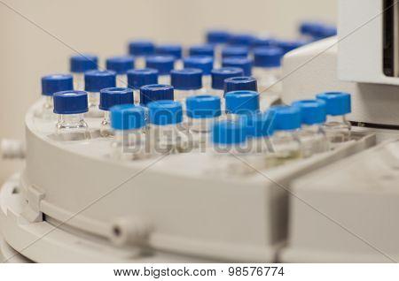 Sample Vial In Gc Autosamplers Rack