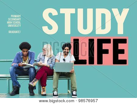 Study Life Primary Secondary High School University Concept