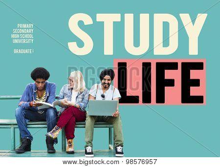 Study Life Primary Secondary High School University Concept