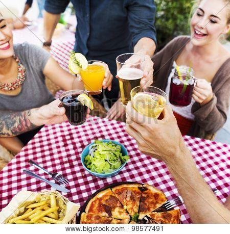 Dining Dinner Drinking Brunch Lifestyle Friendship Concept