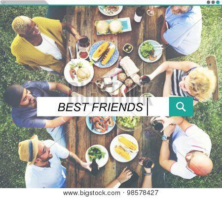Best Friends Friendship Searching Box Concept