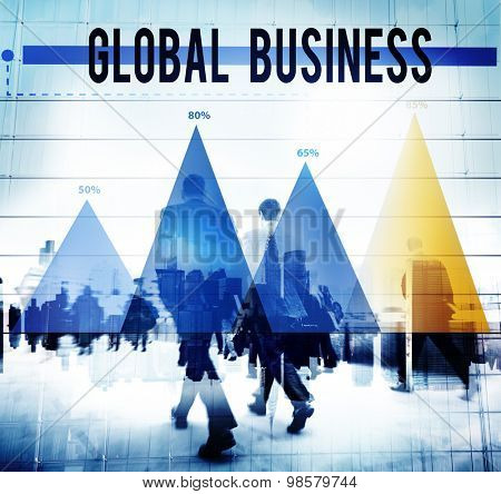 Global Business Strategy Planning Vision Concept
