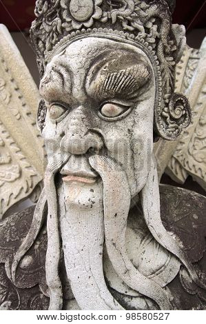 Stone Statue At Wat Pho Temple
