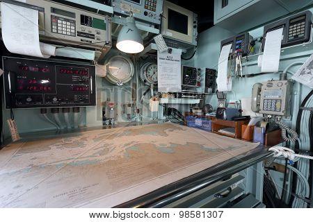 Inside of warship, Japan Maritime Self-Defense Force