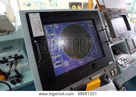 Japanese warship - radar screen