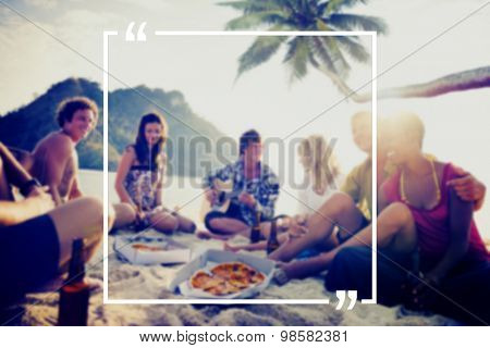 Holiday Summer Vacation Frame Pattern Concept