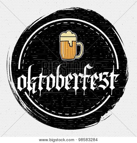 Beer festival Oktoberfest badges logos and labels for any use