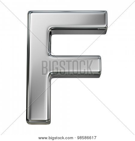 Alphabet letter from chrome. isolated on white.