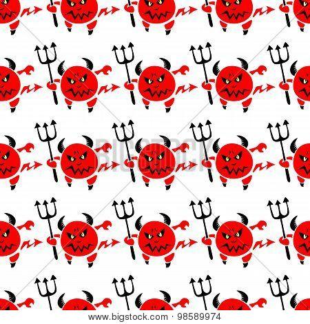 devil seamless pattern