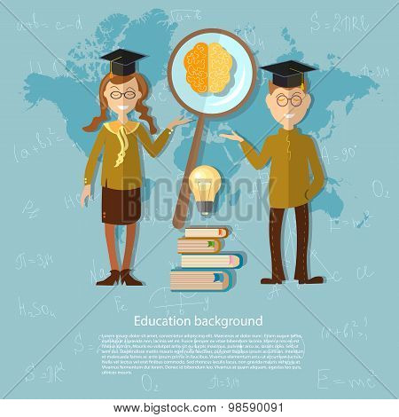 International Education, Online Learning, America, Asia, Europe, Schoolboy, Blackboard, Schoolgirl,