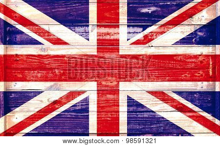British Flag On A Textured Background