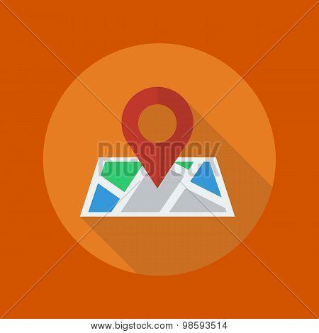 Travel Flat Icon. Map