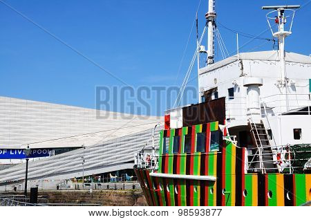 Dazzle Ship and Museum of Liverpool.
