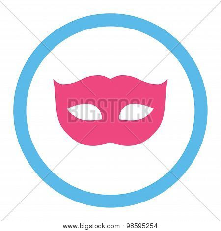 Privacy Mask flat pink and blue colors rounded vector icon
