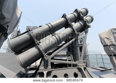 Ship anti-ship missile lock
