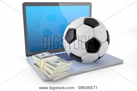 On Line Soccer Betting Concept
